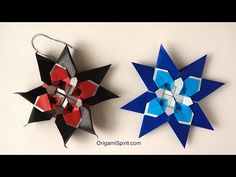Meditative Quilt Star -Lovely Holiday Paper Ornament - YouTube
