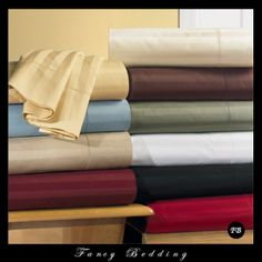 """California-King Stripe Waterbed Sheet Set, 100% Egyptian Cotton, 600 Thread Count, Unattached. This Sheet Set is made from 100% Egyptian Cotton with a 600 Thread Count, giving it a very soft and comfortable feel. These sheets are made to fit up to 18"""" deep mattresses, and the fitted sheet is made elastic all around to ensure proper fit. Starting @ $89.99 http://www.fancybedding.com/california-king-stripe-waterbed-sheet-set-100-egyptian-cotton-600-thread-count/#sthash.LBizRezr.dpuf"""