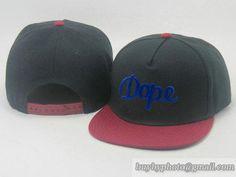 Cheap Wholesale DOPE Adjustable Snapback Hats Black/Wine Brim Flat Bill Caps 377 for slae at US$8.90 #snapbackhats #snapbacks #hiphop #popular #hiphocap #sportscaps #fashioncaps #baseballcap