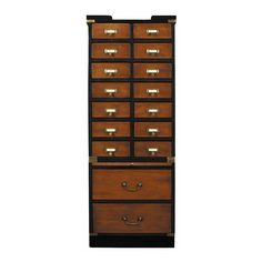 Authentic Models Collectors Cabinet With Drawers