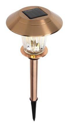 Lampa solarna MUSVIT Ś17xW50 miedź   JYSK