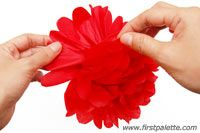 Step 11 Mexican Tissue Paper Flowers craft