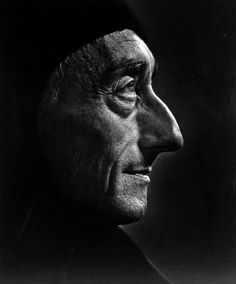 """""""The sea, once it casts its spell, holds one in its net of wonder forever."""" -- Jacques Cousteau (Image: Jacques Cousteau photographed by Yousuf Karsh)"""