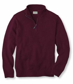 Double L Sweater, Quarter-Zip Pullover: Henleys and Zip-Necks | Free Shipping at L.L.Bean