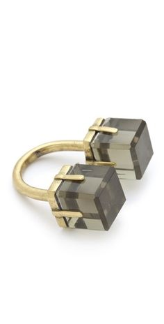 // Marc Jacobs Cubes Double Vision Ring