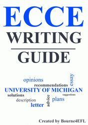 This 15-page writing packet gives EFL/ESL students all they need to pass the writing section of the ECCE (University of Michigan Examination for the Certificate of Competency in English). The packet contains model tasks, letters and essays for all the possible writing tasks that come up on the exam. The packet can also be used for any upper-intermediate EFL writing lesson. University Of Michigan, Writing Lessons, Esl, Certificate, Students, English, Letters, How To Plan, Model