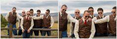 rustic outdoor wedding colorado groomsmen sad face funny photos