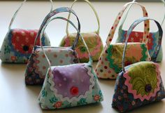 Cute lavender bags, a good use for my grandmother's hankies.