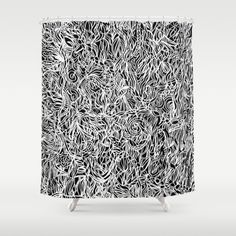 White and Black Shower Curtain $68 society6