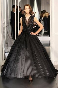 Black, pleated beauty.