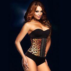 f943e628b6b ann chery waist cincher women s workout corset leopard print Waist Trainer  Corset