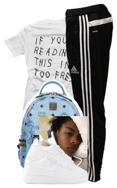 """""""bored  Danovan """" by ajsavagee ❤ liked on Polyvore featuring adidas, MCM and NIKE"""