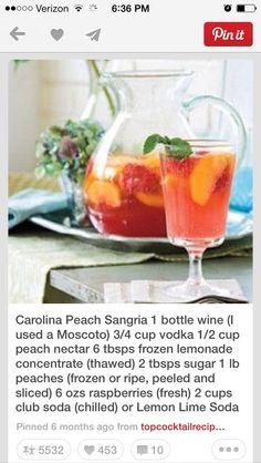 Carolina Peach Sangria