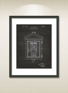 Signal Boxes 1924 Patent Art Illustration Drawing by TawerArt