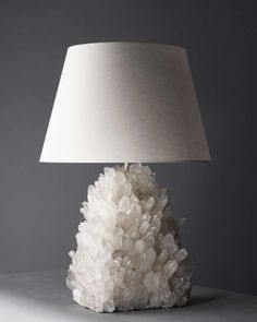 Liz O'Brien Editions Rock Crystal Lamp | From a unique collection of antique and modern table lamps at http://www.1stdibs.com/furniture/lighting/table-lamps/