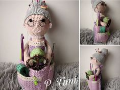Crochet Dolls Patterns granny crafter crochet doll - You will love this Crafter Granny Crochet Doll and it's a fabulous free pattern. Get the details now and whip one up today. Crochet Shoes Pattern, Crochet Mandala Pattern, Crochet Amigurumi Free Patterns, Crochet Eyes, Cute Crochet, Crochet Yarn, Simple Crochet, Granny Dolls, Crochet Projects