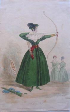 """Archery Dress"" - The Court Magazine - London, England - August 1833"