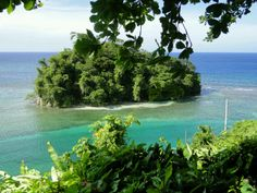 Monkey island port Antonio jamaica This Island can be seen clearly from the late movie star Eroll Flynns Home.....