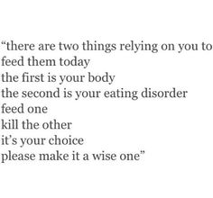 If only it was this simple... #anorexia #eatingdisorder #recovery