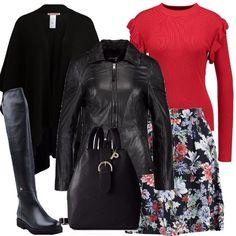 02131bef98c Giubbotto e mantella  outfit donna Trendy per scuola universit  e tutti i  giorni