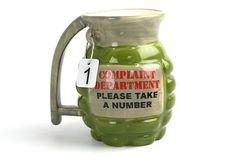 Complaint Department Grenade Mug