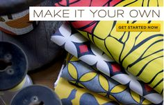 Make your own fabric designs or wallpaper design.  these companies print them on any type of fabric and send them to you.