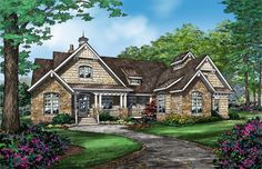 Front Rendering of The Austin - Craftsman House Plan 1409