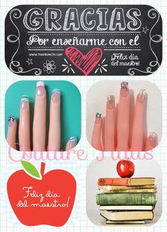 #couture #nails #celebramos el #DíaDelMaestro #Promoción #especial #uñas de #cristal #naturales