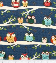 Midnight Owl Fabric - 1 yard - Rare. $10.50, via Etsy.