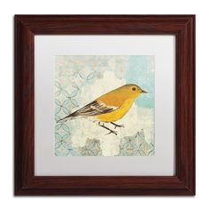 'Pine Warbler' by Kathrine Lovell Framed Painting Print
