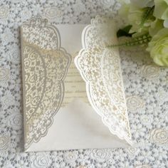 Vintage Laser Cut Wedding Invitations Indian Style