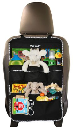 Premium Backseat Organizer for Kids, Cars - EXTRA Large Size, COVERS BACK OF SEAT + e-book, #1 Kids' Accessories, Car Seat Protector, Made of Durable Material...