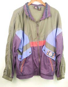 Vintage 1990s Le Coq Sportif Jacket Windbreaker Men's Size XL Extra Large #LeCoqSportif #BasicJacket