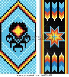 Traditional (native) American Indian loom beading patterns