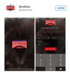 Available Now on the App Store: BoxStats, best boxing app out there! App Store, T 4, Boxing