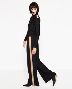 Image 1 of SPORTS STRIPE TROUSERS from Zara