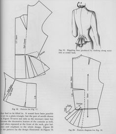 Drafting the pattern for a draped suit front and back