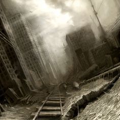 Dark, Dark, Dark...  City of decay by Anton Semenov, via Behance