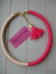 Colorblock DIY necklace