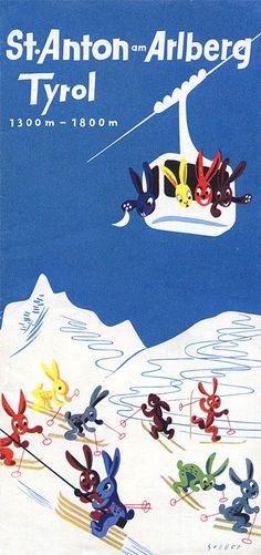 Ski Tyrol #travel #brochure 1955