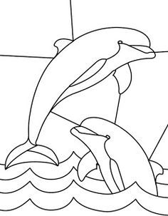 stained glass patterns for free: dolphin stained glass patterns