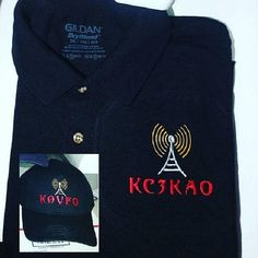HAM RADIO Shirt & Hat Combo  -   Classy Custom EMBROIDERED in CrushProof Box with Tower,  Callsign - Ham Radio Gift T Shirt or Polo