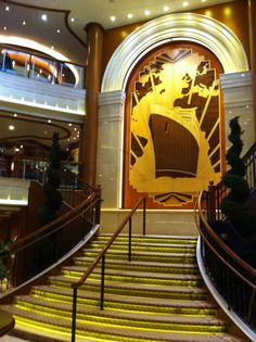 The Grand Lobby on board Queen Elizabeth