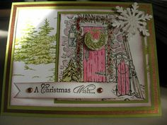 Home For Christmas Watercoloring
