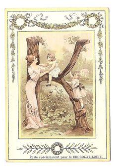 La lettre K  -  - Alphabet  Enfant  - Chromo Chocolat Louit - Trade card