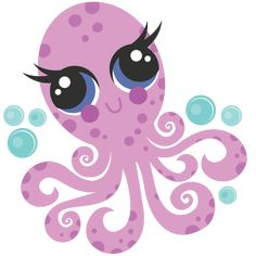 Octopus SVG scrapbook cut file cute clipart files for silhouette cricut pazzles free svgs free svg cuts cute cut files Octopus Design, Cute Octopus, Cute Clipart, Silhouette Design, Silhouette Files, Silhouette Cameo, Cute Cuts, Diy For Kids, Craft Projects