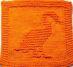 Knitting Cloth Pattern     FLAMINGO   PDF by ezcareknits on Etsy, $2.85