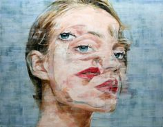 Glitchy Painted Portraits by Harding Meyer