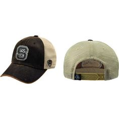 new product db521 60bd5 NC State Wolfpack Top of the World Brown Scat Mesh Snapback Adjustable Hat  Cap