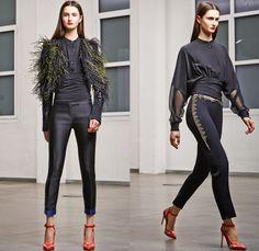 Antonio Berardi 2014 Pre Fall Womens Presentation - Pre Autumn Collection Looks - Wide Leg Palazzo Pants Culottes Masculine Pantsuit Blazer ...
